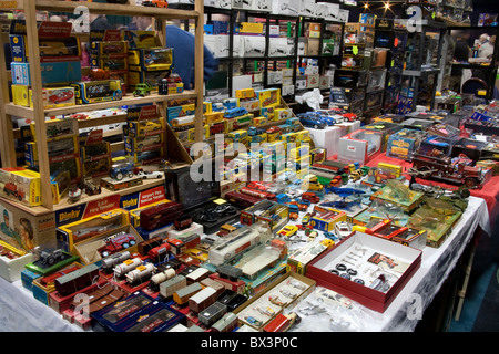 Toy cars, Collectors Fair in the indoor arena at Bolton Wanderers, Reebok Stadium, Middlebrook Retail Park, Horwich, - Stock Photo
