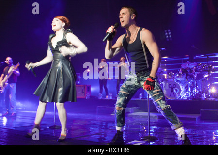 American pop group The Scissor Sisters performing onstage at the Brixton Academy, London - Stock Photo