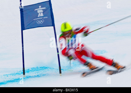 2010 Vancouver Winter Olympics; Mens Giant Slalom; - Stock Photo
