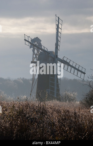 Turf Fen Mill at How Hill Ludham on the the River Ant, Broadland, Norfolk - Stock Photo