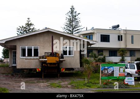 Moving House,Napier,North Island,New Zealand - Stock Photo