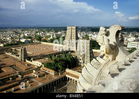 India - The Madurai Sundareswarar Meenakshi Temple also known as Madurai Amman Meenakshi Temple - Stock Photo