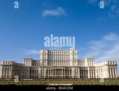 The Parliament Palace now home to Romanian Senate in Bucharest Romania - Stock Photo