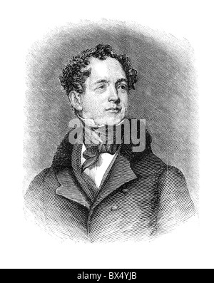 Thomas Moore (28 May 1779 – 25 February 1852) was an Irish poet, singer, songwriter, and entertainer - Stock Photo