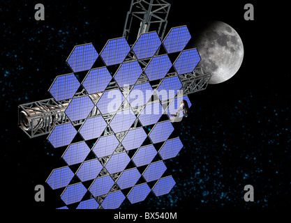 Mirror array in space, artwork - Stock Photo