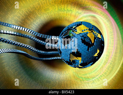 Global network, conceptual artwork - Stock Photo