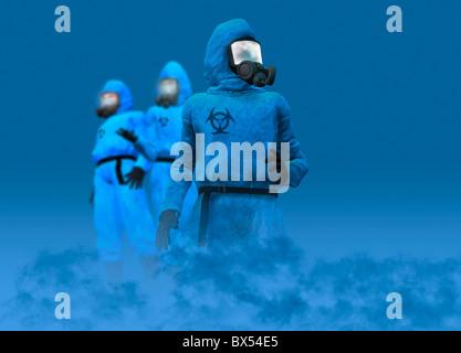 Isolation suits - Stock Photo