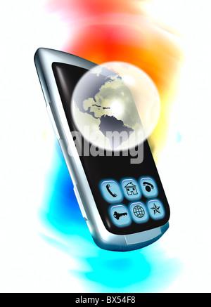 Global communication, conceptual artwork - Stock Photo