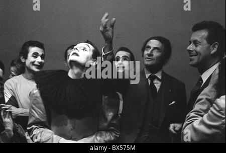 Ladislav Fialka, Marcel Marceau - Stock Photo