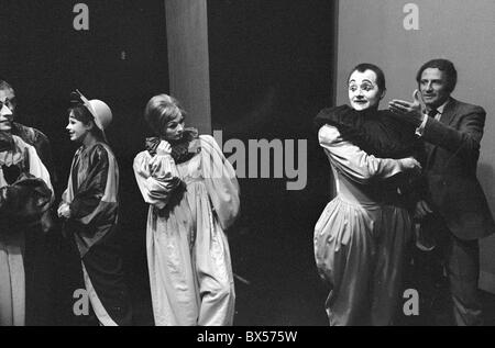 Ladislav Fialka, Marcel Marceau, mime - Stock Photo