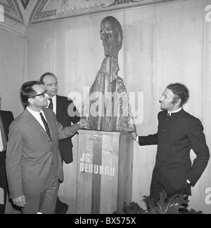Marcel Marceau, Ladislav Fialka, Jean Gaspard Debureau, bust, statue, actor, mime - Stock Photo