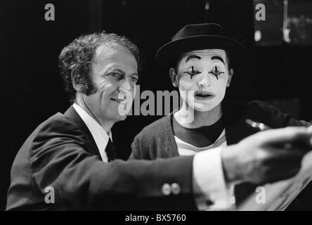 Marcel Marceau, Ladislav Fialka, actor, mime - Stock Photo