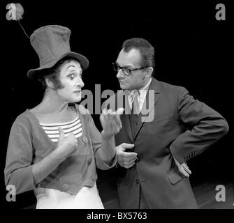 Marcel Marceau, Ladislav Fialka, actor, mime - Stock Photo