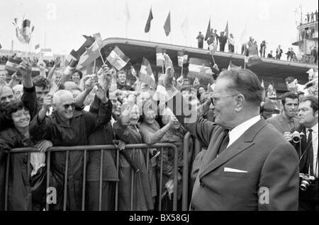 Josip Broz Tito, people, Prague, airport, - Stock Photo