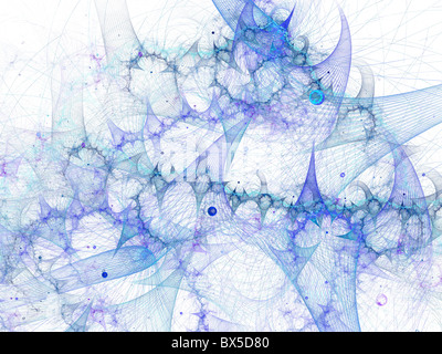 High quality digitally rendered abstract fantastic galaxy in space. - Stock Photo