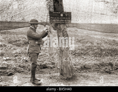 events, First World War / WWI, Western Front, France, British collecting point for infantry ammunition, circa 1916, - Stock Photo
