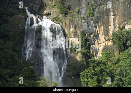 Rawana Falls, Ella Gap, Hill Country, Sri Lanka, Asia - Stock Photo