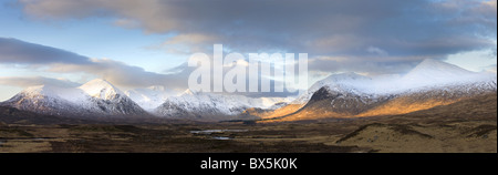 Panoramic view across Rannoch Moor, near Fort William, Scotland, UK - Stock Photo