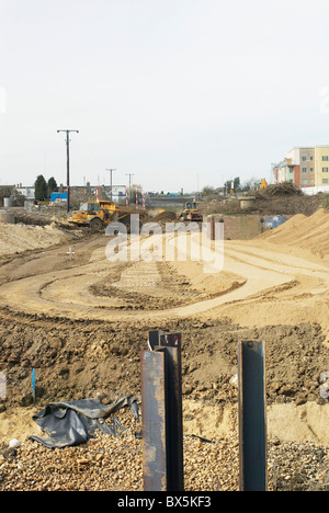 Construction work at the South Lynn Millennium community development in Kings Lynn. - Stock Photo