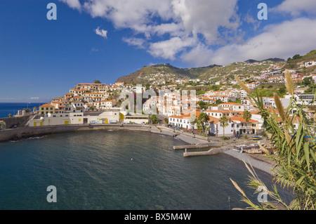 The small south coast harbour of Camara de Lobos, Madeira, Portugal, Atlantic, Europe - Stock Photo