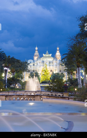 Monte Carlo Casino, Monte Carlo, Principality of Monaco, Cote d'Azur, Europe - Stock Photo