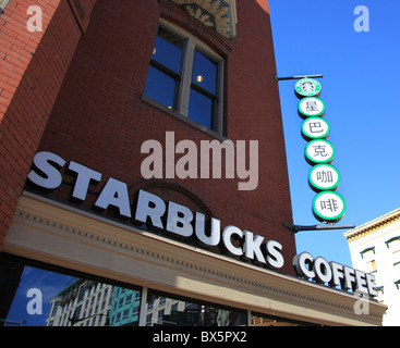 Starbuck's coffee shop at 7th & H Streets N.W. in Chinatown, Washington, D.C., United States, September 5, 2010 - Stock Photo