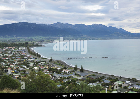 Seaward Kaikoura Ranges, Kaikoura, Canterbury, South Island, New Zealand, Pacific - Stock Photo