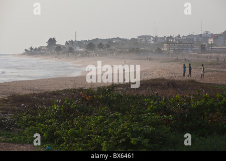 City scene along oceanfront   Monrovia, Liberia, West Africa. - Stock Photo