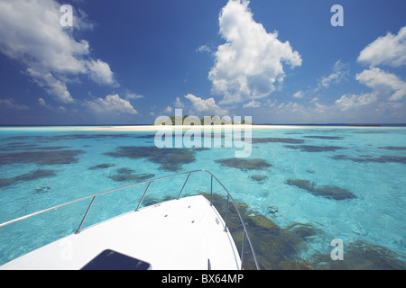 Desert Island, Baa atoll, The Maldives, Indian Ocean, Asia - Stock Photo