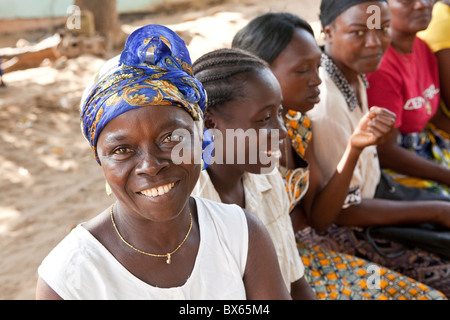Women attend a community group meeting in Monrovia, Liberia, West Africa. - Stock Photo
