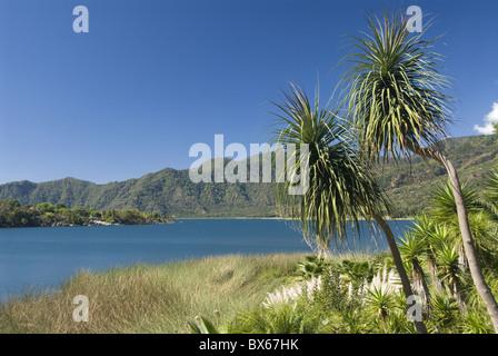 Lake Atitlan, near Santiago Atitlan, Guatemala, Central America - Stock Photo
