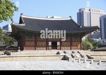 Deoksugung Palace (Palace of Virtuous Longevity), Seoul, South Korea, Asia - Stock Photo