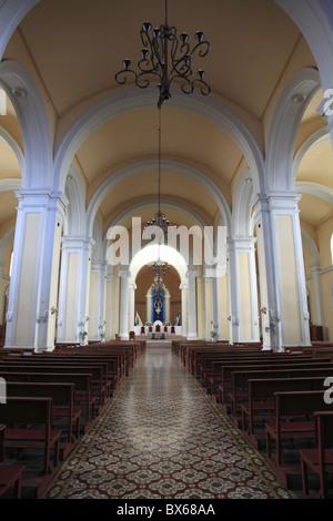 Interior, Cathedral de Granada, Park Colon, Park Central, Granada, Nicaragua, Central America - Stock Photo