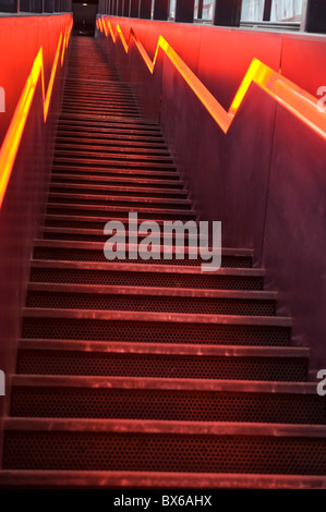 Stairs to the visitor area of the Ruhr Museum Zeche Zollverein World Heritage Site in Essen, North Rhine-Westphalia, - Stock Photo