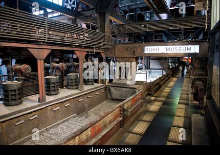Besucherebene des Ruhr Museum der Zeche Zollverein UNESCO Weltkulturerbe in Essen, Nordrhein-Westfalen, Deutschland, - Stock Photo