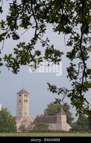 Saint-Martin de Chapaize church, Chapaize, Burgundy, France, Europe - Stock Photo
