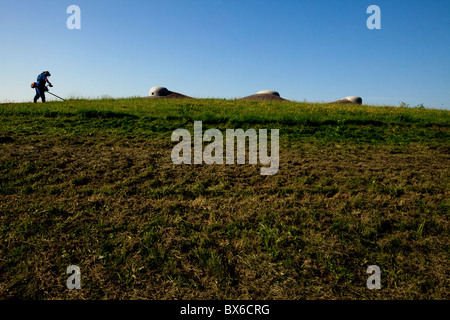 Fort MO-S 19 Alej,Museum of the fortifications, Hlucin-Darkovicky - Stock Photo
