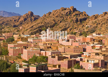 Little village near Tafraoute, Morocco, North Africa, Africa - Stock Photo