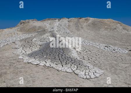 Mud volcanoes near Qobustan, Azerbaijan, Central Asia, Asia - Stock Photo