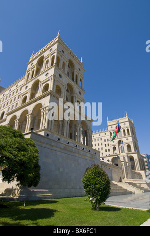 Government House (Dom Soviet), Baku, Azerbaijan, Central Asia, Asia - Stock Photo