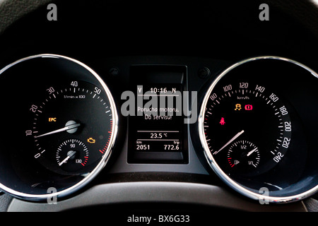Car Dashboard Sign Multifunction Display Stock Photo Royalty - Car image sign of dashboard