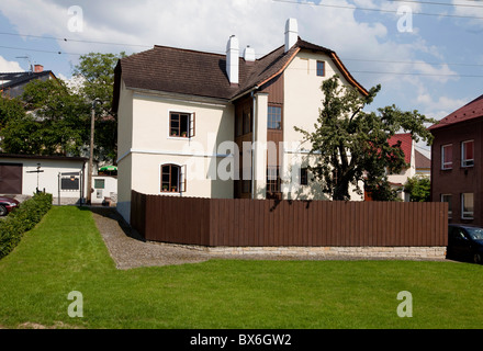 Sigmund Freud, psychoanalyst, native house, Pribor - Stock Photo