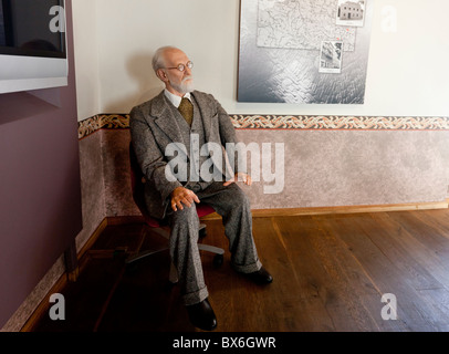 figure, Sigmund Freud, psychoanalyst, native house, Pribor - Stock Photo