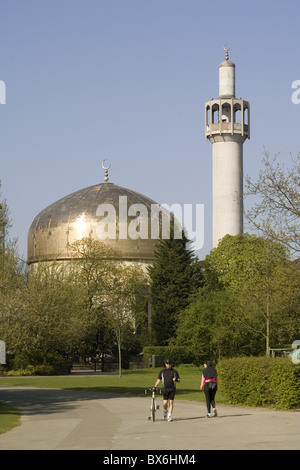Central Mosque, Regents Park, London, England, United Kingdom, Europe - Stock Photo