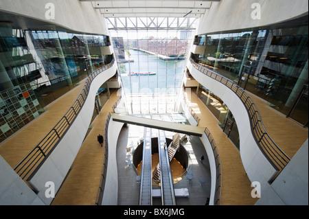 Interior of the Royal Library, Copenhagen, Denmark, Scandinavia, Europe - Stock Photo