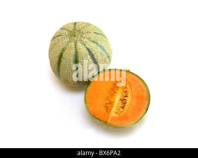Cantaloupe melone (Cucumis melo cantalupensis)