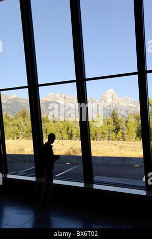 New Visitor Center, Grand Teton National Park, Wyoming, USA (MR) - Stock Photo
