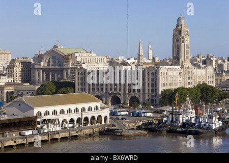 Terminal building in Port of Montevideo, Uruguay, South America - Stock Photo