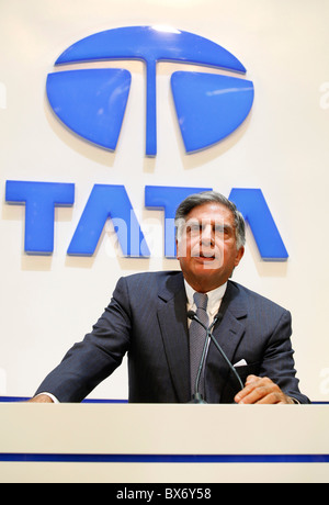 Ratan N. Tata   during the 79th International Motor Show in Geneve, Tuesday, March 3, 2009.  (CTK Photo/Rene Fluger) - Stock Photo