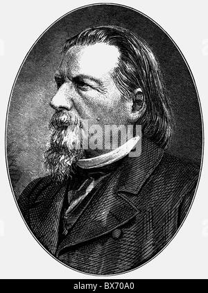 Gutzkow, Karl Ferdinand, 17.3.1811 - 16. 12.1878, German author / writer and journalist, portrait, wood engraving, - Stock Photo